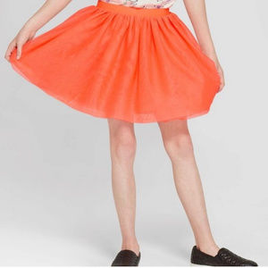 Cat & Jack |Girls Halloween Coral Tulle Skirt XL